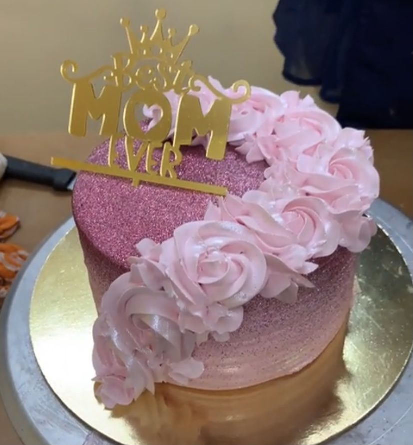 Strawberry Tall Cake with Shimmer Designs, Images, Price Near Me