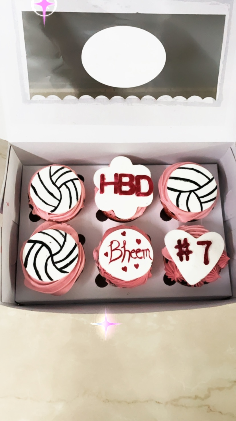 Vollyball Theme Cupcakes(Pack of 6) Designs, Images, Price Near Me