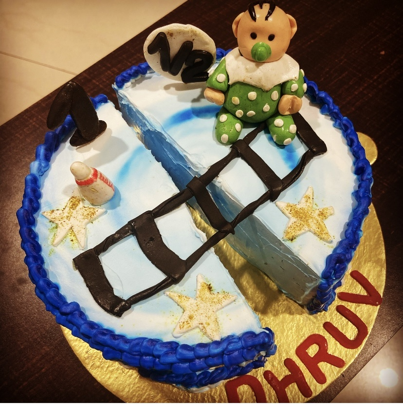 6 Month Baby Cake Designs, Images, Price Near Me