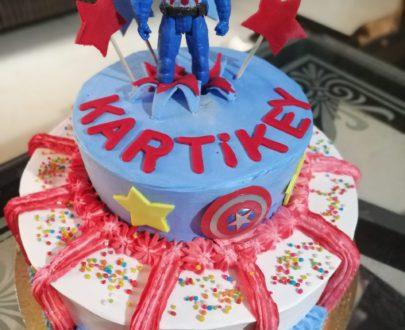 Captain America Cake Designs, Images, Price Near Me