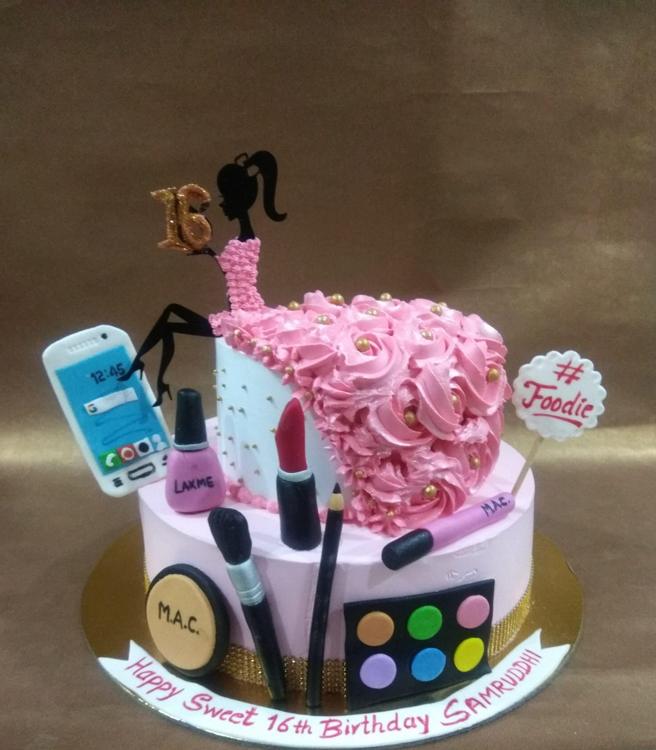 Make Up Theme Cake Designs, Images, Price Near Me