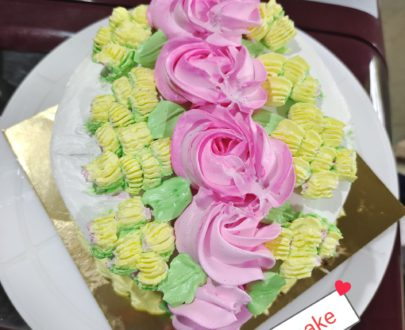 Choclate Dutch Cake with floral desighn Designs, Images, Price Near Me
