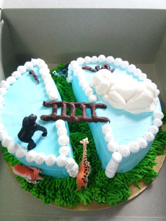 Half Birthday Truffle Cake (Jungle Theme) Designs, Images, Price Near Me