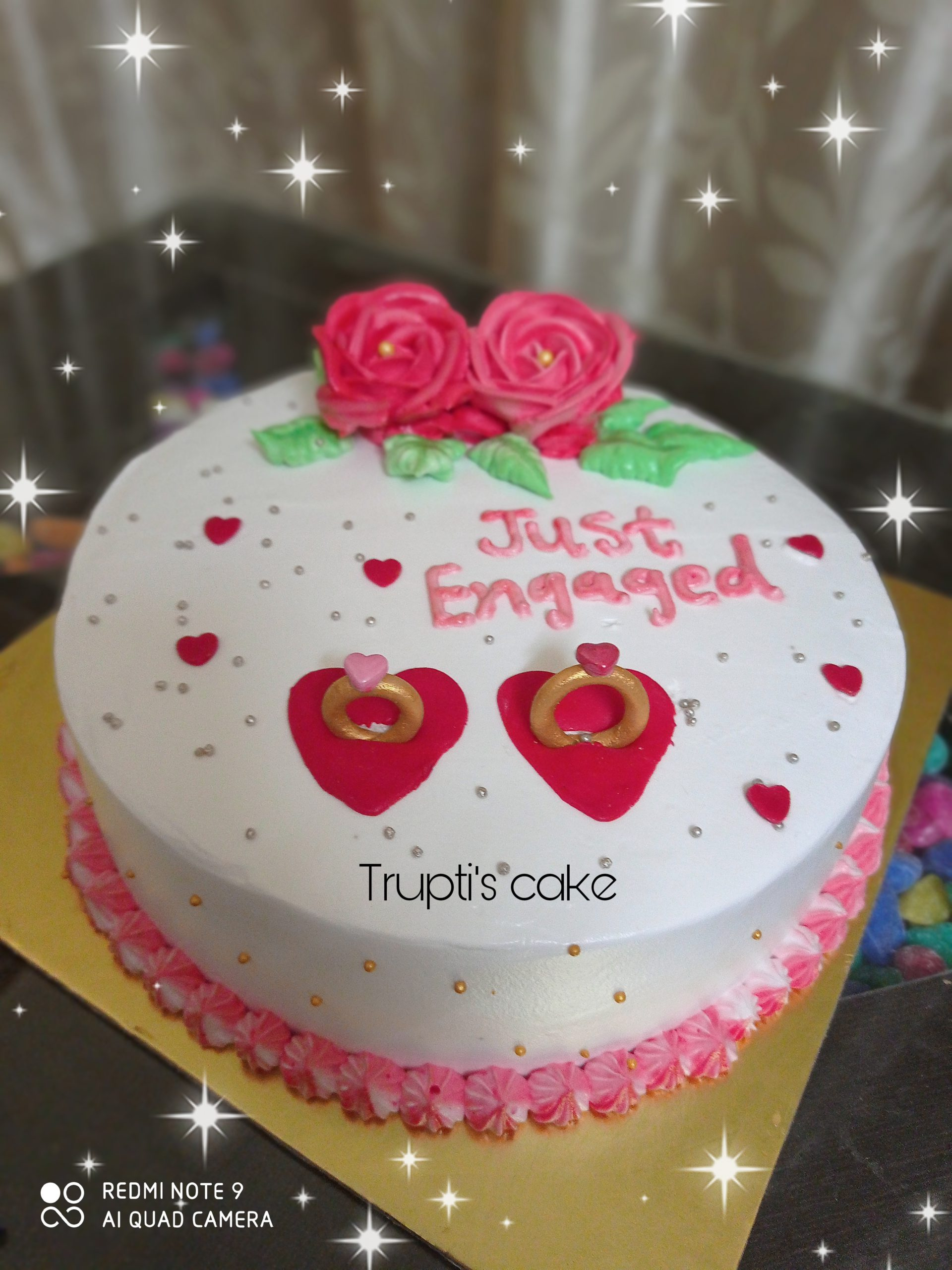 Engagement Theme Cake Designs, Images, Price Near Me