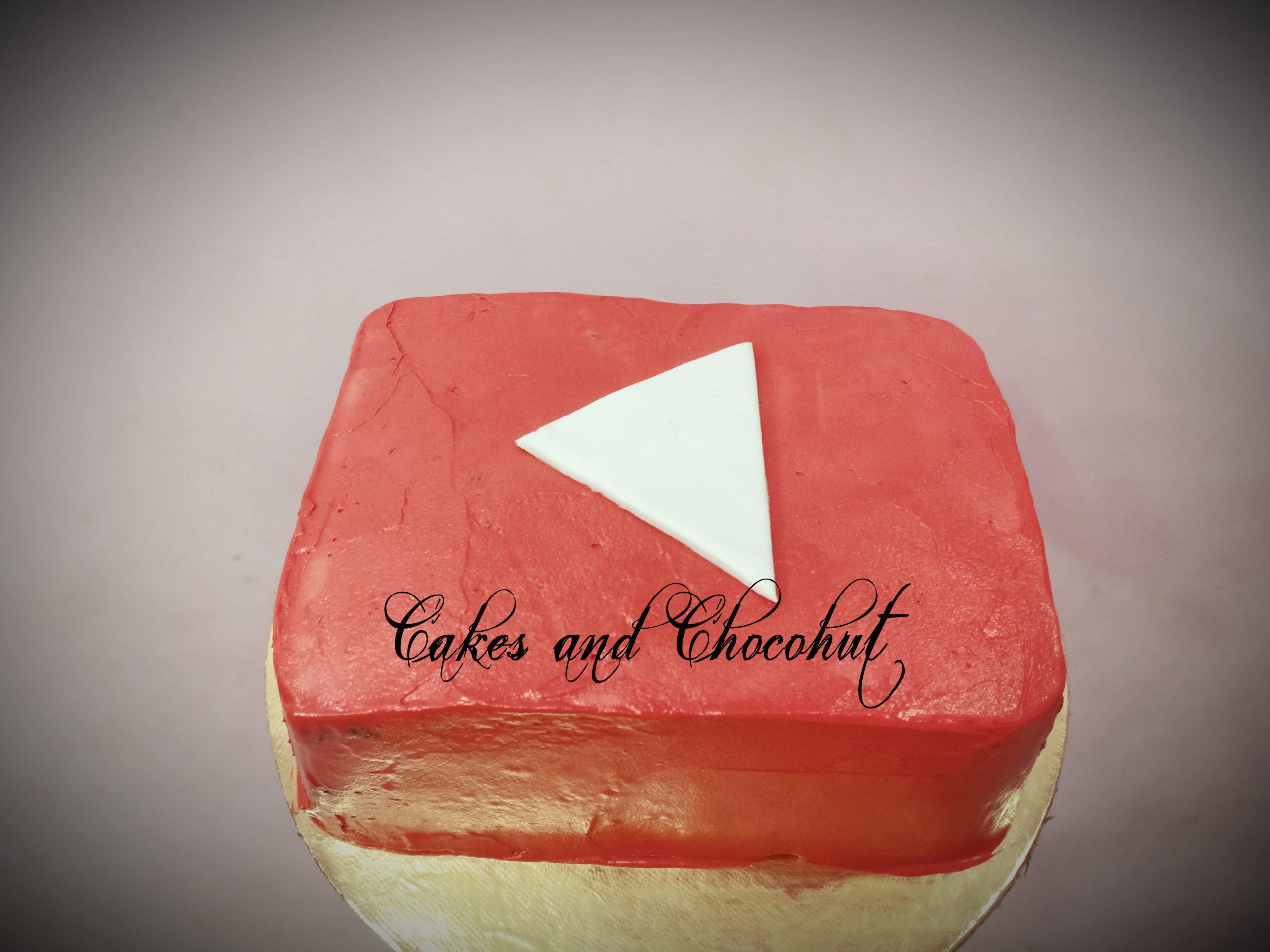 YouTube Theme Cake Designs, Images, Price Near Me