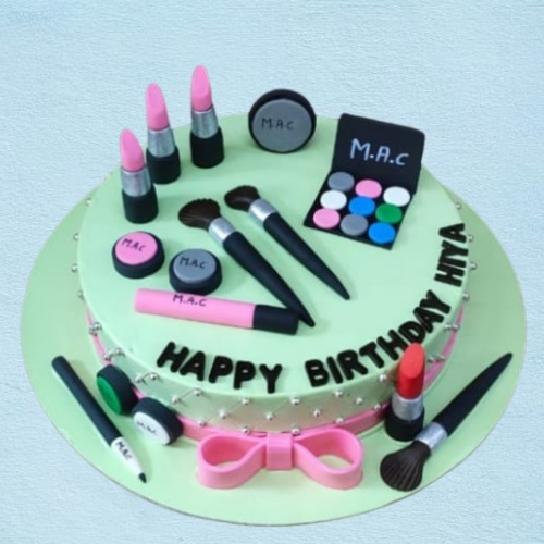 Makeup Kit Theme Cake ( Fondant) Designs, Images, Price Near Me