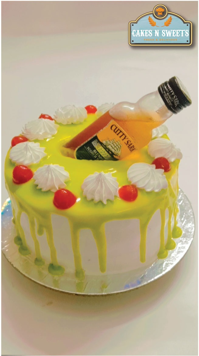 Whisky Cake (Theme Cake) Designs, Images, Price Near Me