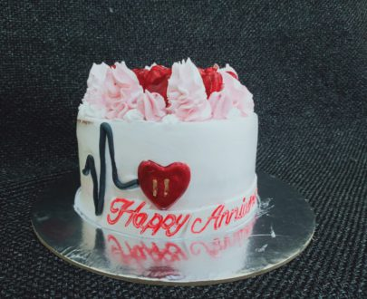 Heart Beat Theme Cake Designs, Images, Price Near Me
