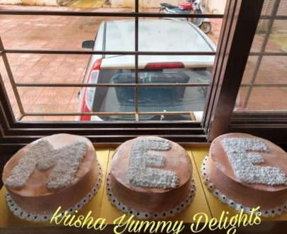 Alphabet Letter on Cake Designs, Images, Price Near Me