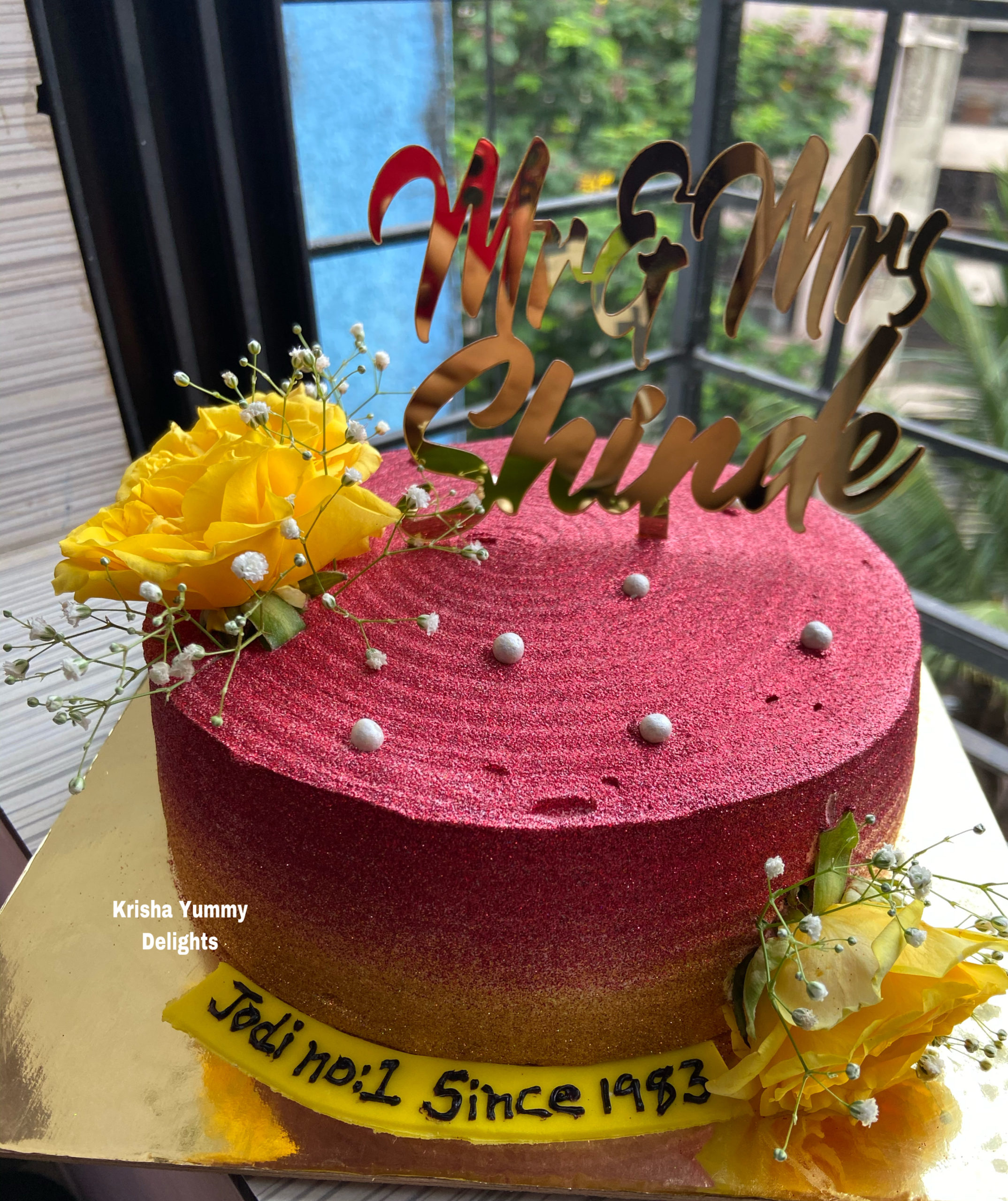 Shimmer Cake with customise topper Designs, Images, Price Near Me
