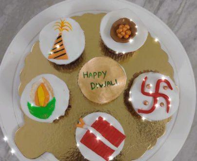Diwali Theme Cupcakes Designs, Images, Price Near Me