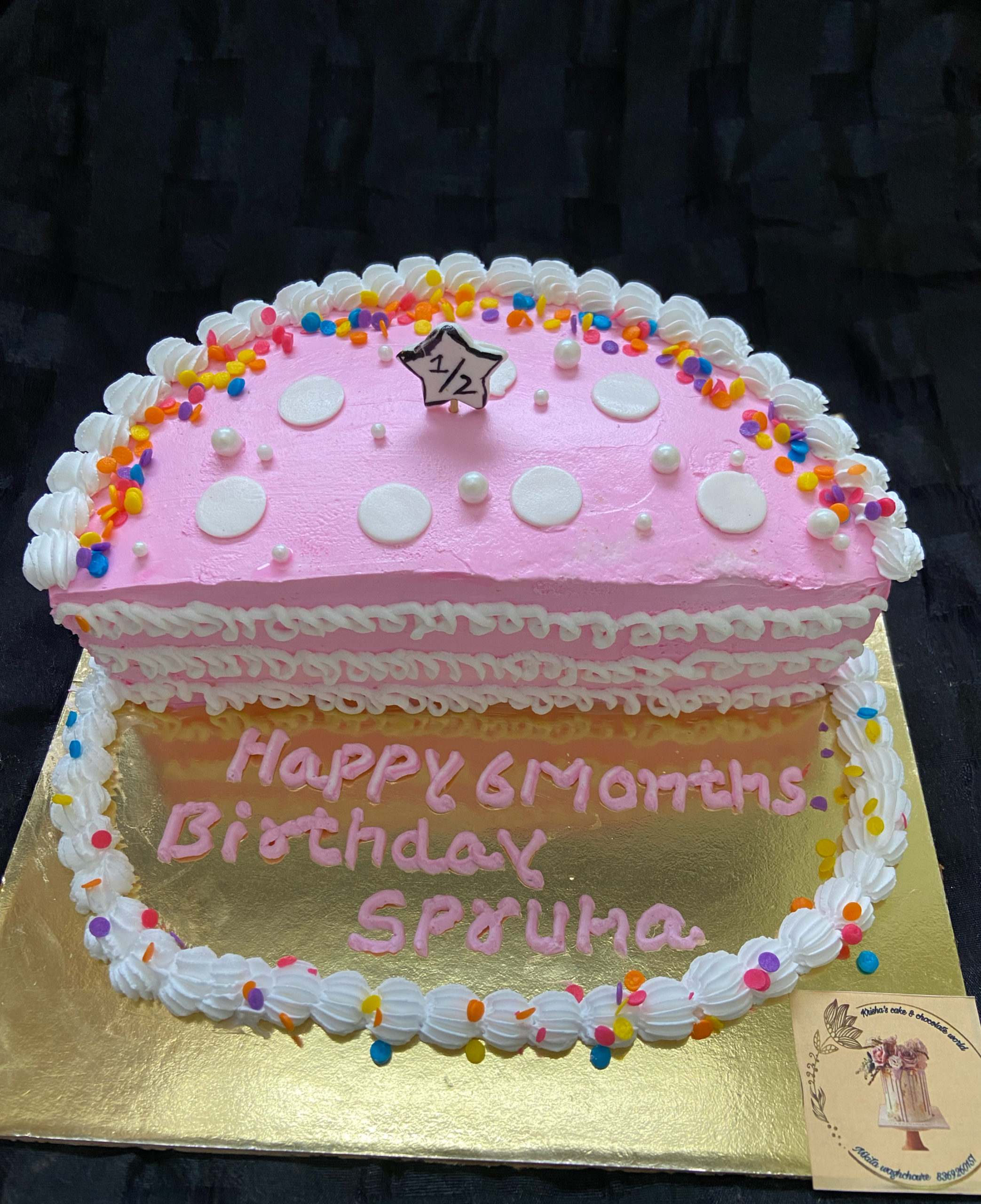 Six Months Birthday Cake Designs, Images, Price Near Me