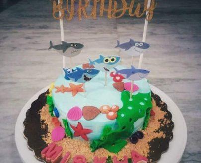 Baby Shark Theme Cake Designs, Images, Price Near Me