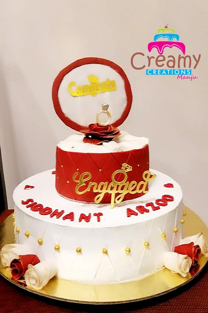 Engagement Cake Designs, Images, Price Near Me