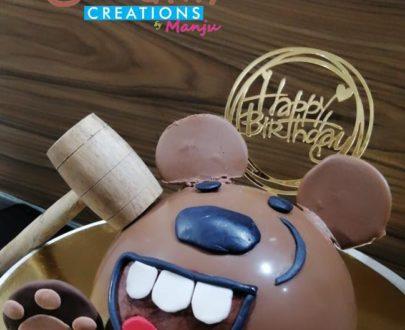 Bear Pinata Cake Designs, Images, Price Near Me