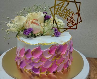 Real Flowers Cake Designs, Images, Price Near Me