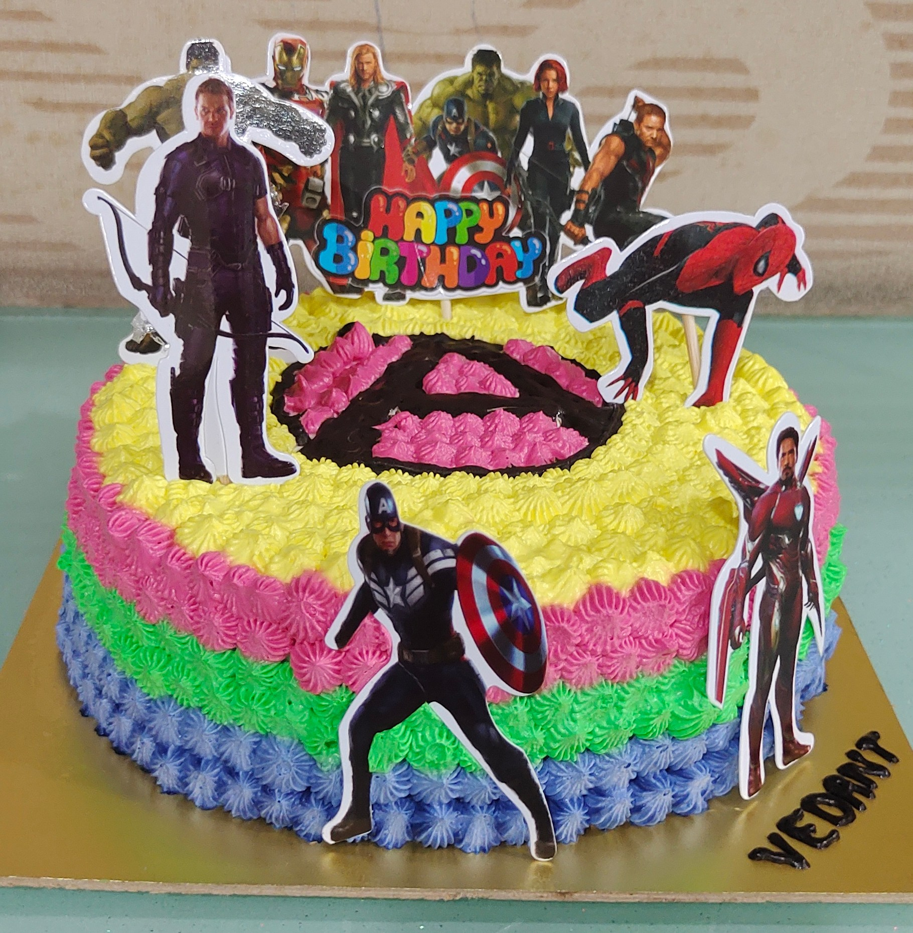 Avengers Theme Cake (without foundant) Designs, Images, Price Near Me