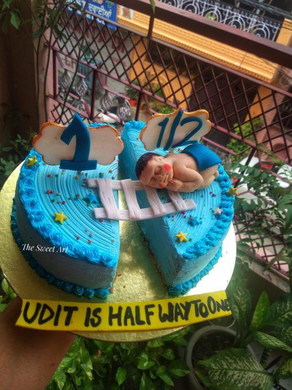 Six Month Birthday Cake Designs, Images, Price Near Me