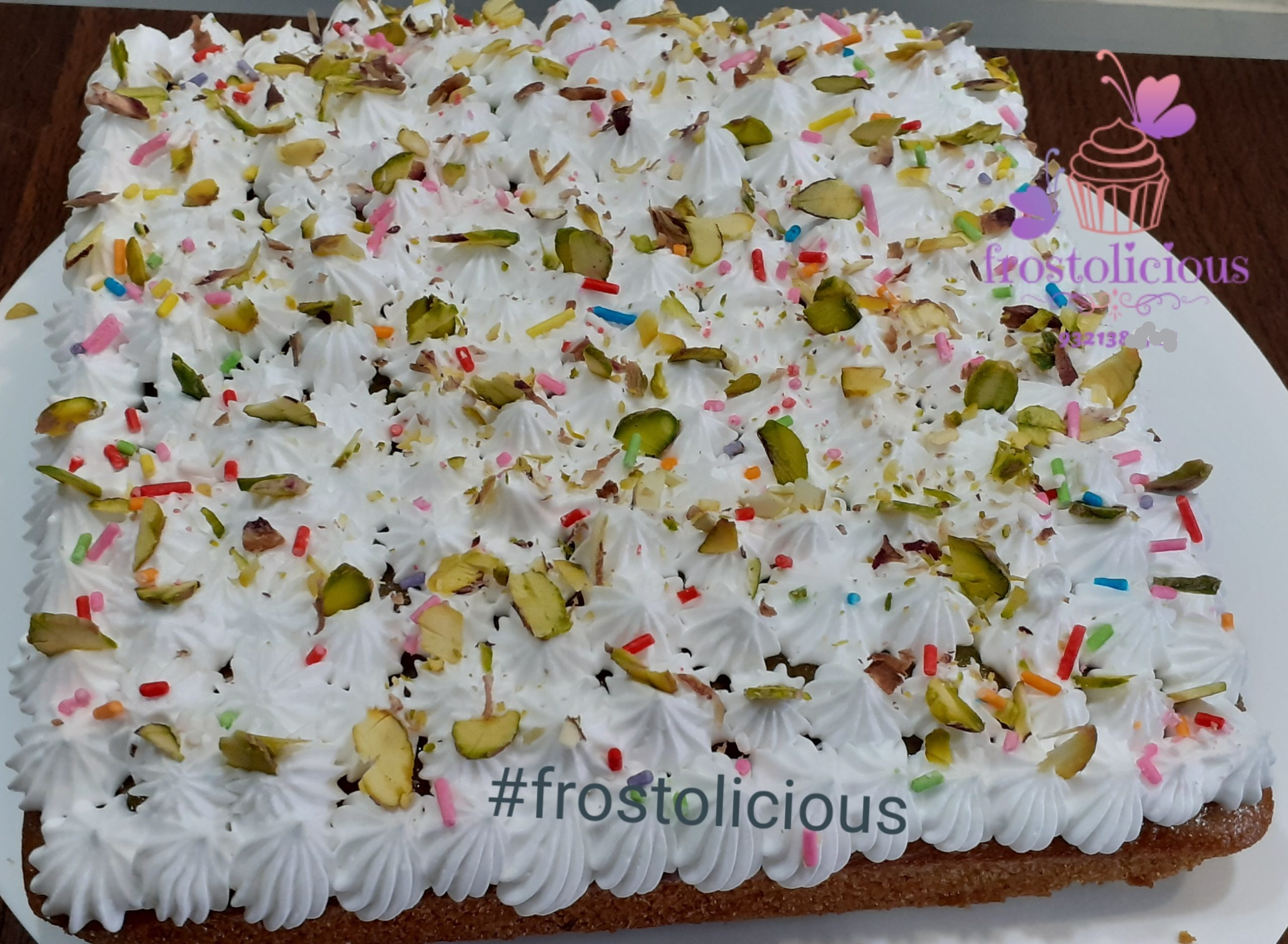 Pistacho Tres Leches Cake Designs, Images, Price Near Me
