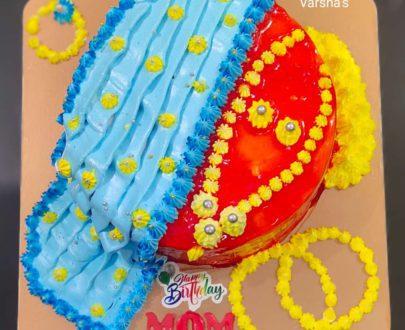 Saree Theme Cake Designs, Images, Price Near Me