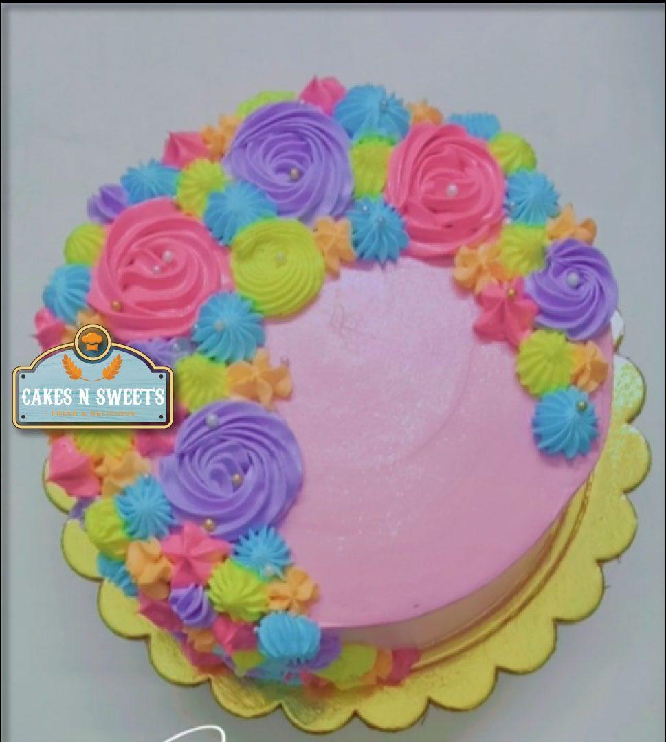 Rainbow Flowers Designer Cake Designs, Images, Price Near Me