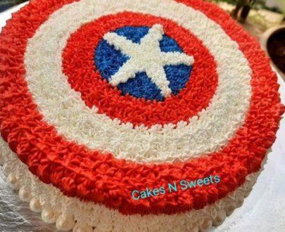 Captain America Theme Kids Cake Designs, Images, Price Near Me
