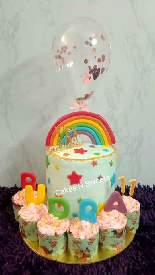 Rainbow Theme Kids Cake Designs, Images, Price Near Me