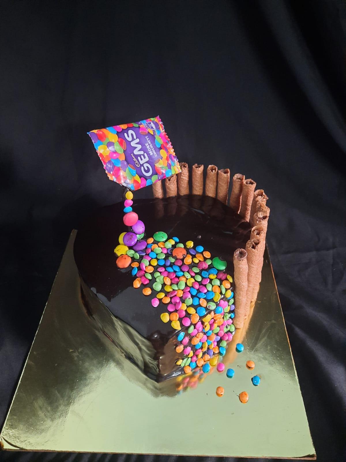 Anti gravity Chocolate Gems Cake Designs, Images, Price Near Me