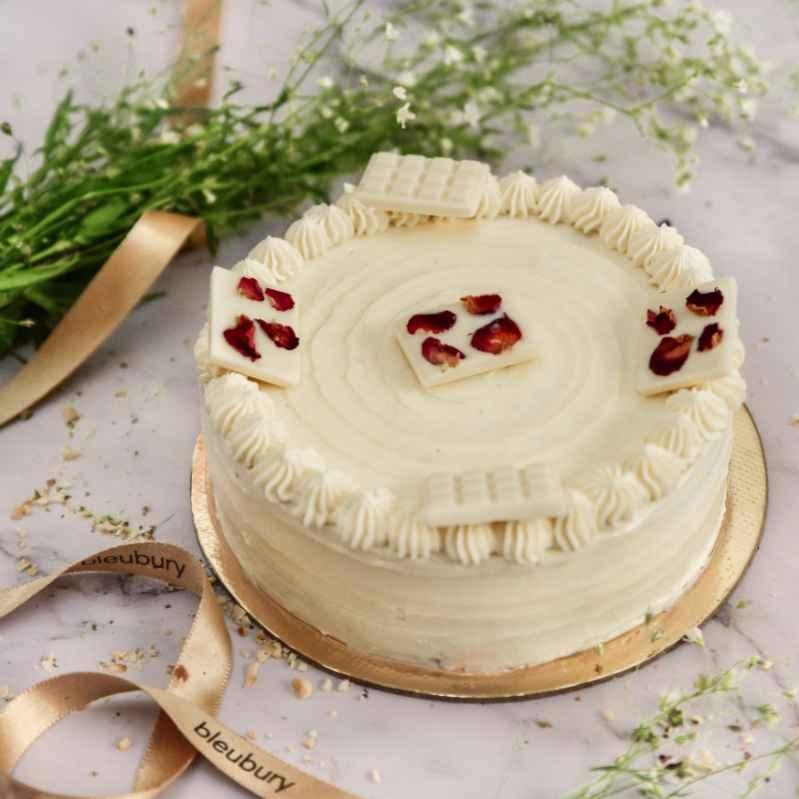 WHITE CHOCOLATE ROSE CAKE Designs, Images, Price Near Me