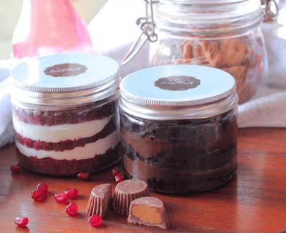 COMBO: CHOCOLATE + RED VELVET JARS CAKE Designs, Images, Price Near Me