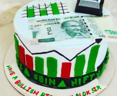 Sensex Cake / Sharemaket Theme Cake Designs, Images, Price Near Me