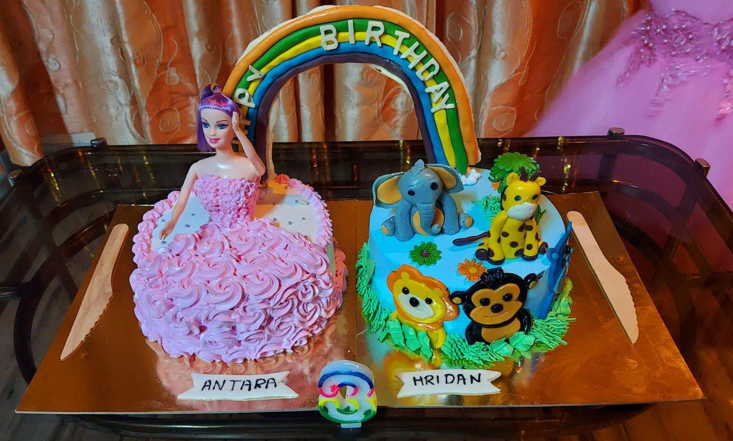 Animal Theme Fondant Cake and Doll Cake Designs, Images, Price Near Me