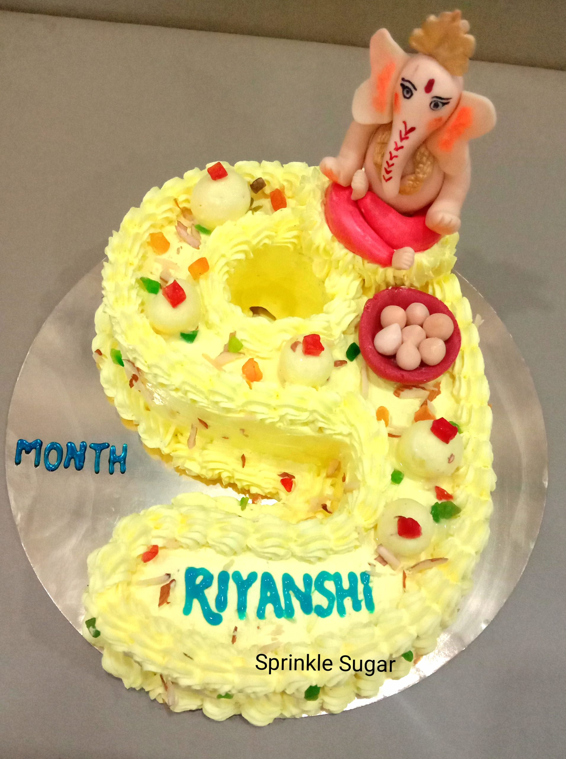 Ganpati Number Theme Cake Designs, Images, Price Near Me