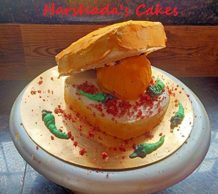 Vadapav Theme Cake Designs, Images, Price Near Me